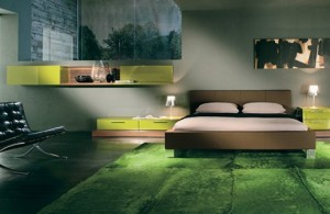 Cool-bedroom-interior-design-with-green-grass-carpet